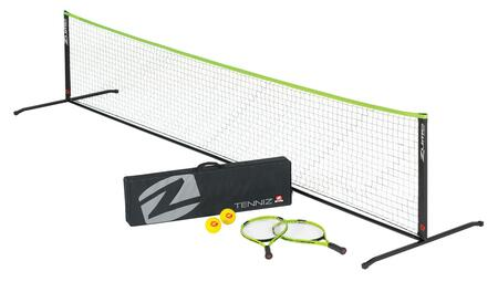 OD0005W TENNIZ Portable Tennis Set with  2 Rackets  2 Balls  12ft Net with Carrying Case  and a Game