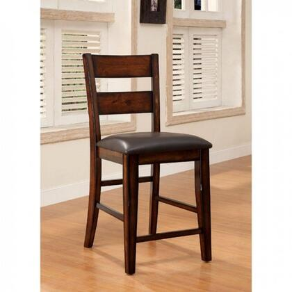 Dickinson II Collection CM3187PC-2PK Set of 2 Counter Height Chair with Padded Leatherette Seats in Dark