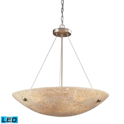 Click here for 8887/6-LED 6 Light Pendant in Satin Nickel and Pea... prices