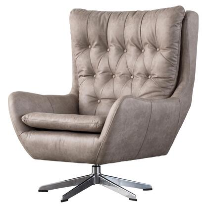 Skylar Collection 9900016-278 PU Swivel Chair with Removable Cushion  360 Degrees Swivel and High Wing Back Silhouette in Devore