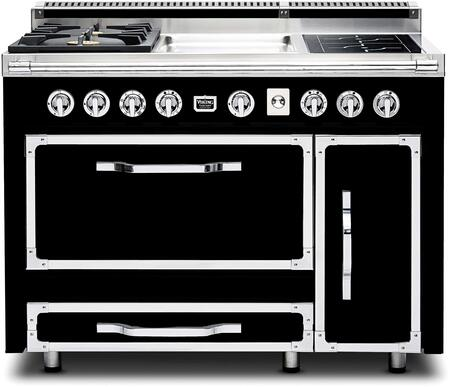 """TVDR480-2GIGB 48"""" Tuscany Series Professional Dual Fuel Range with 2 Sealed Burners  2 Induction Elements and a Griddle  Dual Ovens and Porcelain Coated Cast"""