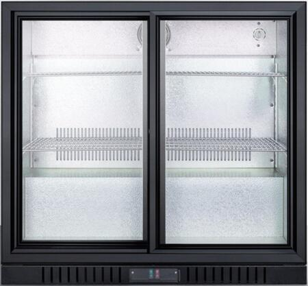 Summit SCR700B Sliding Glass Door Beverage Merchandiser
