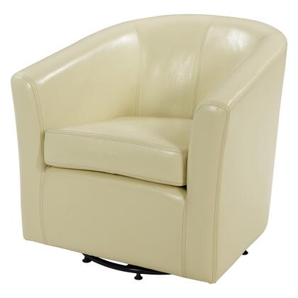 Hayden Collection 193012B-2050 Chair with 360 Degree Swivel  Stitching Details and Bonded Leather Upholstery in