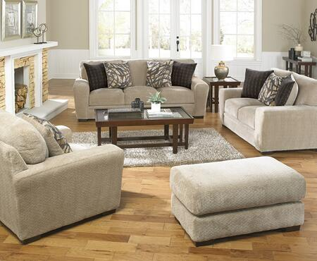 Prescott Collection 44874PCSTLARMBNKIT1P 4-Piece Living Room Sets with Stationary Sofa  Loveseat  Living Room Chair and Ottoman in