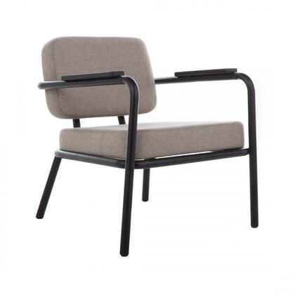 Umea FEC0261BGREY Chair with Stitched Detailing  Padded
