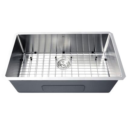 Pro Series SR3218-16 - 32 Large Rectangle Single Bowl Undermount Small Radius Corners Stainless Steel Kitchen