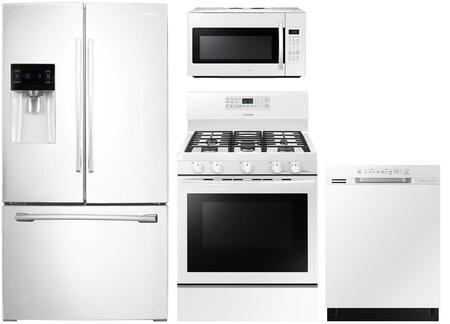 4 Piece Kitchen Appliance Package with RF263BEAEWW 36