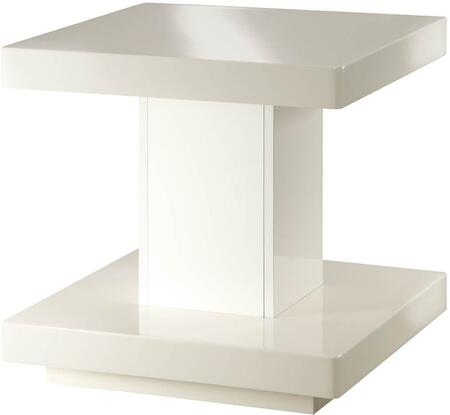 Imena Collection 80729 22 inch  End Table with Square Shape  Medium-Density Fiberboard