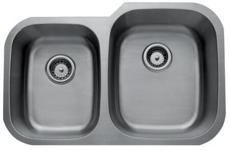 CMU3221-79-16 Craftsmen Series Stainless Steel Double Bowl Undermount Sinks  Small Bowl on