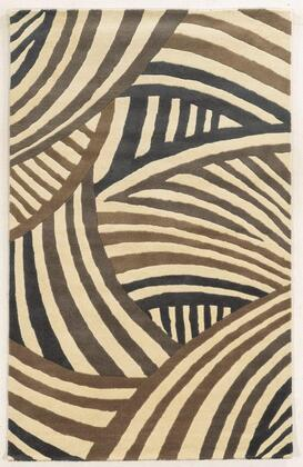 Fusfn858200370810 Fusion Fn8582-8 X 10 Hand-tufted New Zealand Wool Blend Rug In Ivory  Rectangle