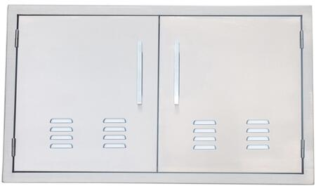 BA-VDD36 Signature Series 36 inch  Belved Frame Vented Double Access Doors in Stainless