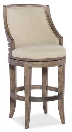 Lainey 300-20053 Transitional Barstool with Tapered Legs  Piped Stitching and Fabric Upholstery in Taupe and