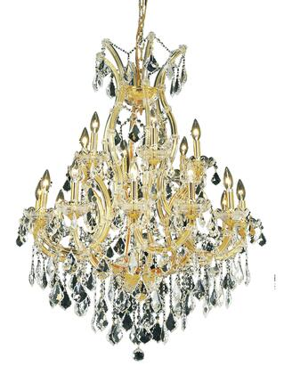 2800D32G/EC 2800 Maria Theresa Collection Hanging Fixture D32in H42in Lt: 18+1 Gold Finish (Elegant Cut