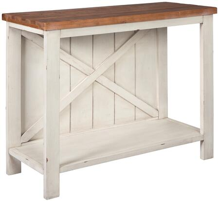 """Abramsland_Collection_A4000154_36""""_Console_Sofa_Table_with_Fixed_Shelf__Rectangular_Shape__Casual_Style__Veneers__Wood_and_Engineered_Wood_in_White"""