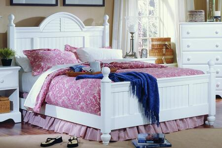 Carolina Cottage Collection 417850-3-419400 Full Size Cottage Bed with Cottage Headboard & Footboard and Wood Rails with Slats in