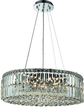 V2030D24C/RC 2030 Maxime Collection Chandelier D:24In H:7.5In Lt:12 Chrome Finish (Royal Cut