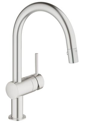 Grohe 31378DC0 Minta Single-Handle Kitchen Faucet, Supersteel