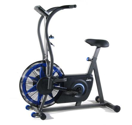 15-1100 Airgometer Exercise Bike with Smooth Air Resistance  Textured Pedals  InTouch Fitness Monitor and Wheels for