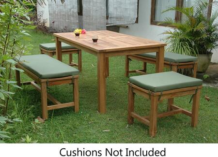 SET-200 5-Piece Dining Table Set with 63