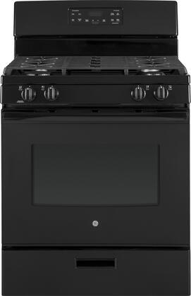 GE JGBS62DEKBB 30 Inch Freestanding Gas Range with 4 Sealed Burner Cooktop, 5 cu. ft. Primary Oven Capacity, in Black