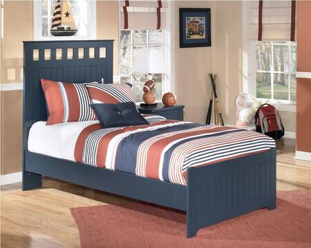 Leo Collection B103-52/51/82 Twin Size Panel Bed with Grooved Panels and Replicated Paint in
