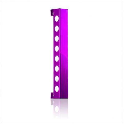 VB8PP Polished Purple Vertical Wine Rack With Vertically Mounted  Displays Wine with Style  & In
