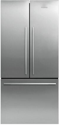 RF170ADX4N 32 inch  Freestanding French Door Refrigerator with Sabbath Mode  16.9 cu. ft. Total Capacity  and 3 Adjustable Glass Shelves  in EZKleen Stainless