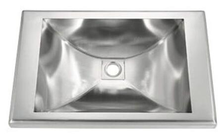 LI-SV-17 Serino 22 inch  Single Bowl Undermount Bathroom Sink with Soundproofing System and Mounting Hardware in Stainless