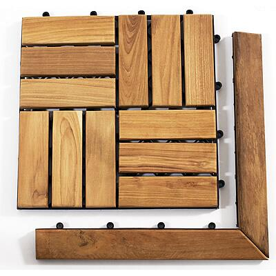 899029001491 Le click Teak Set of 2 Corner Pieces with Pin and Loop side