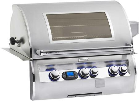 E660I4LAPW Echelon Diamond Series Built In Gas Grill with 660 sq. in. Cooking Area  3 Burners  Double Wall Seamless 304 Stainless Steel Hood  and Analog