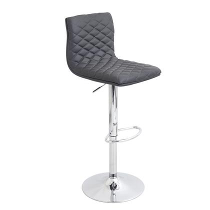 BS-TW-CAV GY Caviar Height Adjustable Contemporary Barstool with Swivel in