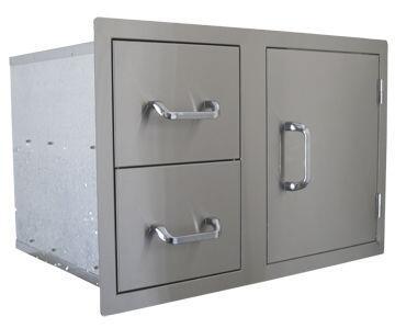 ALP24230 Dual Drawer Single Door