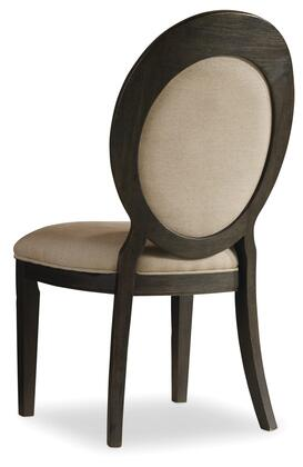 Corsica Series 5280-75412 41 inch  Traditional-Style Dining Room Dark Oval Back Side Chair with Tapered Legs  Piped Stitching and Fabric Upholstery in