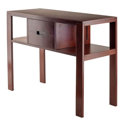 Bora Collection 94743 40 inch  Console Table with 1 Drawer  2 Open Shelves and Clean Line Design in