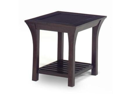 81350 Suffolk Collection Wooden End Table In Merlot