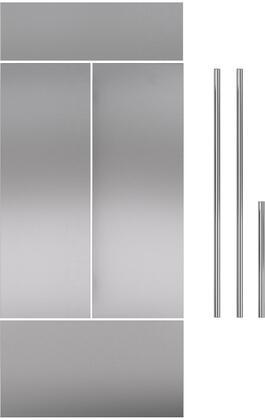 Stainless Steel Door Panel for 36 French Door RefrigeratorsFreezers with Tubular Handle