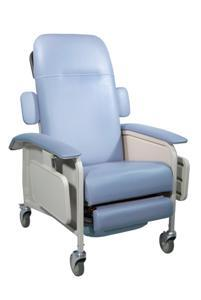 d577-br Clinical Care Geri Chair Recliner  Blue