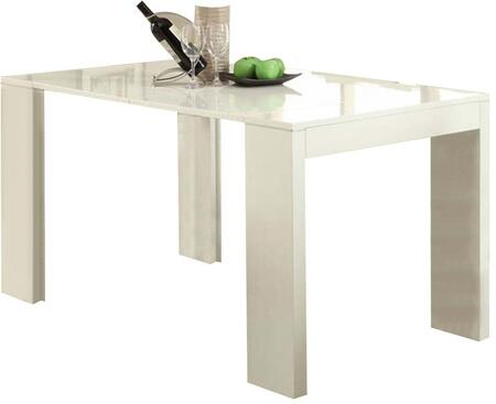 Lilah Collection 70995 59 inch  Dining Table with High Gloss Top in White