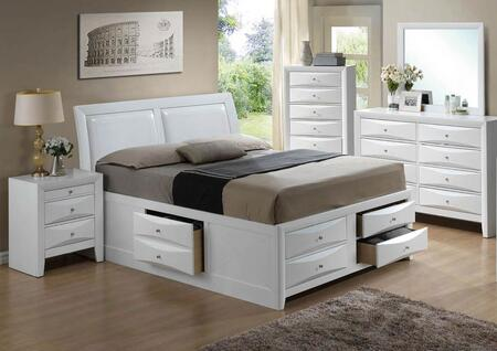 G1570I-FSB4BDMNC 5-Piece Bedroom Set with Full Size Storage Bed + Dresser + Mirror + Single Nightstand + Chest  in