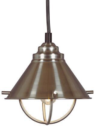 66342BS Harbour 1 Light Mini Pendant in Brushed Steel