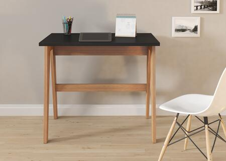 26107HB Trendline Black Wood and Laminate Home Office