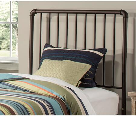 Brandi Collection 2099HTWR Twin Size Headboard with Rails  Open-Frame Panel Design and Sturdy Metal Construction in Oiled