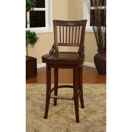 Liberty Series 134755SD 34 Traditional Tall Bar Stool with Full Bearing Swivel  Fully integrated Back Support  and Adjustable Leg Levelers in Suede