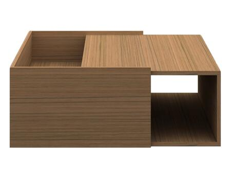 CP1107G-K02-MP Timber Square Coffee Table with 2 Sided Open Shelf Storage in Light Birch