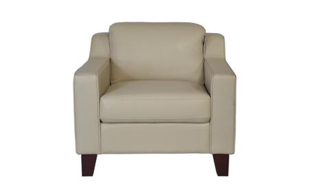 Cora Collection 34901M/S1294 33 inch  Chair with Top Grain Leather Upholstery  Track Arms and Tapered Legs in