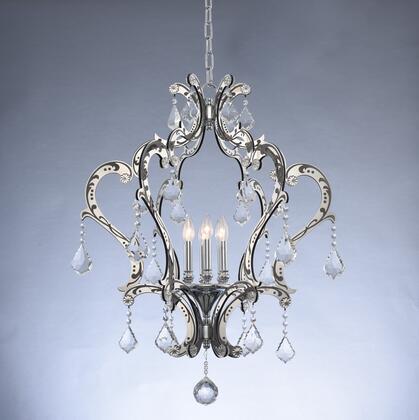 034051-048-FR001 Argento 6-Light Pendant Ceiling Light Transitional Style  120V in Matte Black w/Polished Stainless Steel