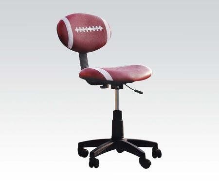All Star Collection 59083 32 inch  - 37 inch  Youth Office Football Chair with Pneumatic Lift  Adjustable Height  Swivel Seat  Black Caster Base and Bycast PU Leather