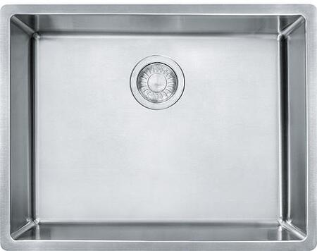 Cube Series CUX11021-ADA 23 inch  Stainless Steel Kitchen Sink with 18-Gauge Stainless Steel and Sound Dampening Sound Pads in Satin