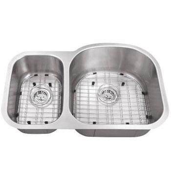 SC3070RV16 All-in-One Undermount Stainless Steel 30x9x19 0-Hole Double Bowl Kitchen