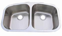 AS116 32x19 Stainless Steel Double Bowl